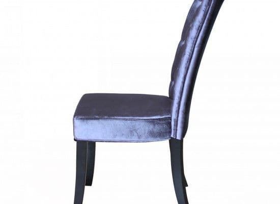 Bonifacio Silver Velvet Set Of 2 Dining Chairs 17LD459